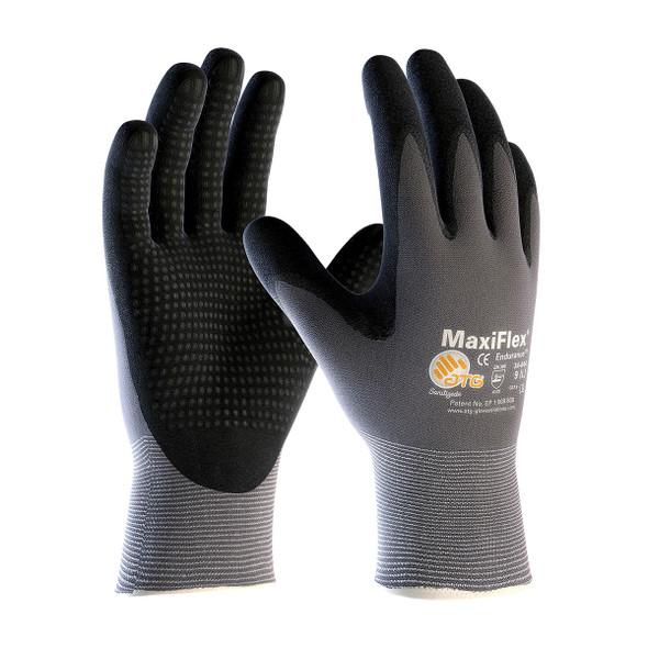 PIP Case of 144 Pair A1 Cut Level MaxiFlex Nylon Gloves with Nitrile Micro Dot Grip 34-844 Pair