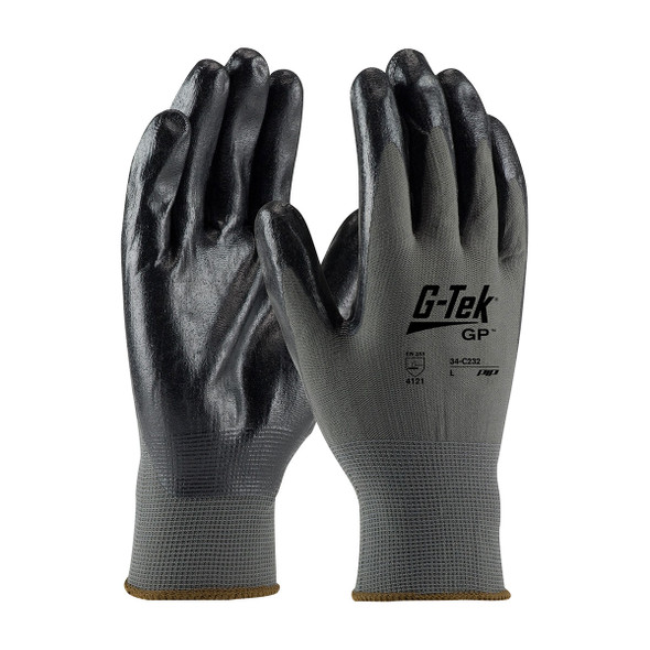 PIP Box of 300 Pair G-Tek GP Glove with Nitrile Grip 34-C232 Top