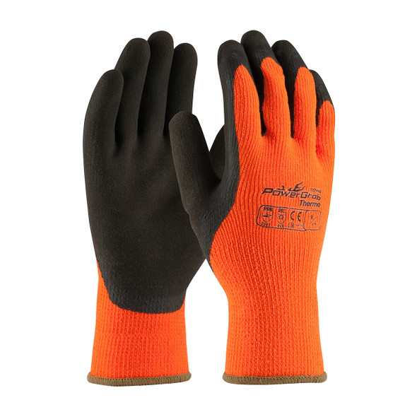 PIP Box of 72 Pair PowerGrab Thermo Hi-Vis Orange Gloves 41-1400