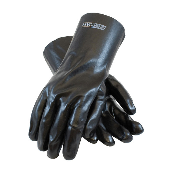 PIP Box of 120 Pair A1 Cut Level ProCoat PVC Dipped Safety Gloves with Interlock Liner 58-8030 Top