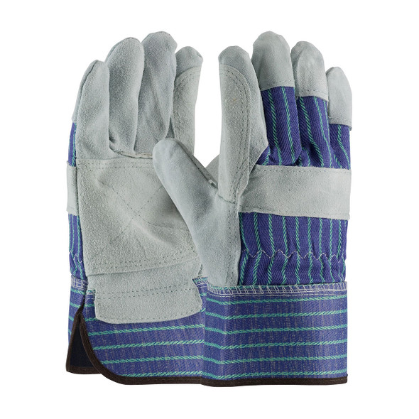 PIP Box 72 Pair A-B Grade Split Leather Double Palm Glove 82-7763 Pair
