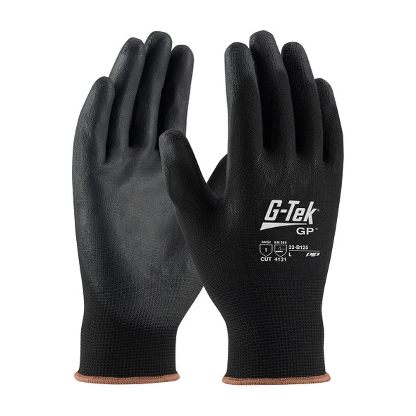 PIP Box of 300 Pair A1 Cut Level G-Tek GP Seamless Knit Nylon Gloves 33-B125 Pair