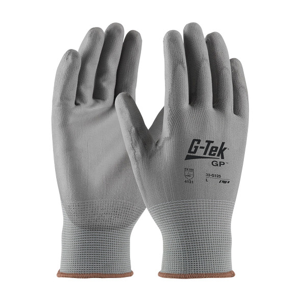 PIP Box of 300 Pair A1 Cut Level G-Tek NPG Seamless Nylon Gloves with Polyurethane Grip 33-G125