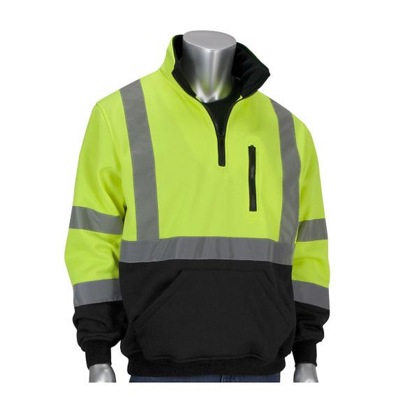 PIP Class 3 Pullover Sweatshirt with Black Bottom 323-1330B Yellow