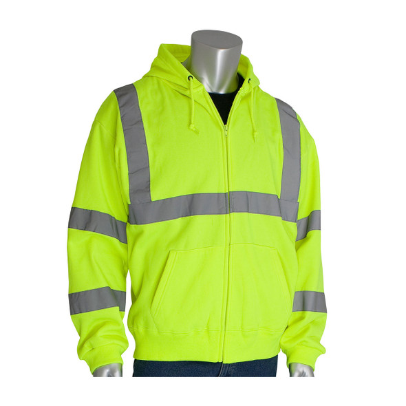 PIP Class 3 Hi Vis Hooded Sweatshirt 323-HSSE Yellow