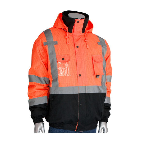 PIP Class 3 Rip Stop Fleece Lined Bomber Jacket 333-1770 Orange Front