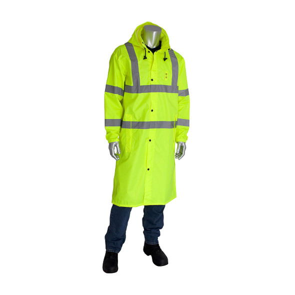 PIP Hi Vis Class 3 Raincoat 353-1048 Yellow