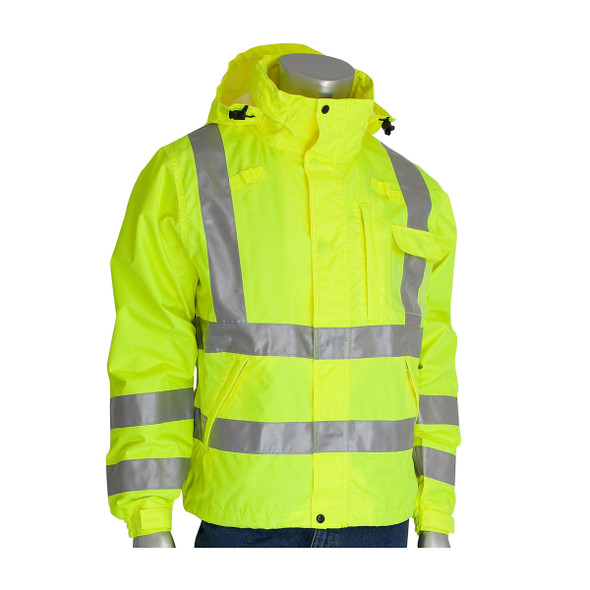 PIP Class 3 Hi Vis Waterproof Breathable Jacket 353-2000 Yellow Buttoned