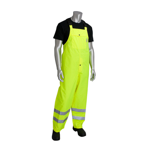 PIP Hi Vis Class E Heavy Duty Waterproof Bib 353-2001 Yellow