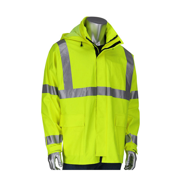 PIP FR Class 3 Hi Vis Heavy Duty Waterproof Jacket 355-2500AR Front