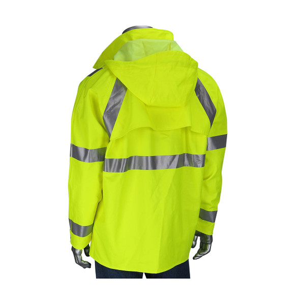 PIP FR Class 3 Hi Vis Heavy Duty Waterproof Jacket 355-2500AR Back