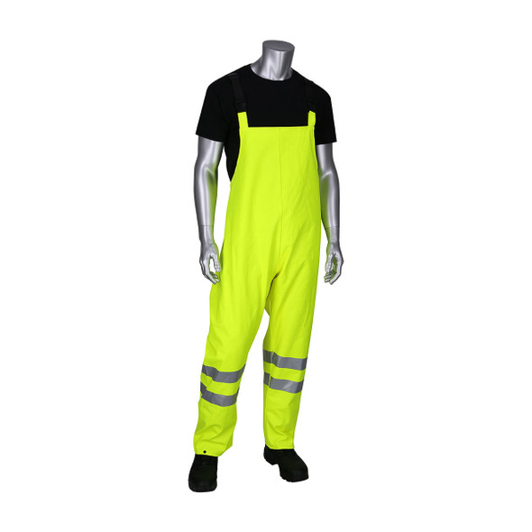 PIP FR Hi Vis Class E Heavy Duty Waterproof Bib 355-2501AR Front