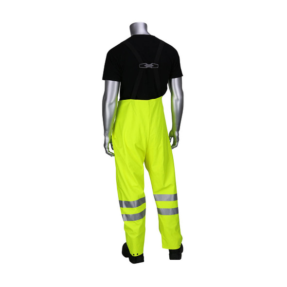 PIP FR Hi Vis Class E Heavy Duty Waterproof Bib 355-2501AR Back