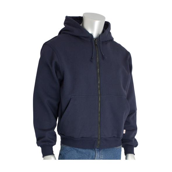 PIP FR Zip Up Fleece Hoodie 385-FRZH Navy