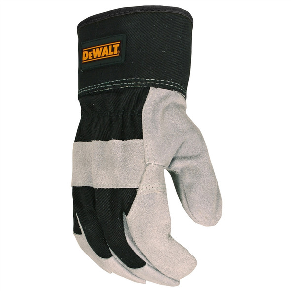 DeWALT Box of 12 Pair Premium Cowhide Leather Palm Work Gloves DPG41 Top