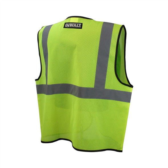 DeWALT Class 2 Hi Vis Green Economy Mesh Vest with Black Trim DSV220 Back