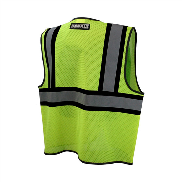 DeWALT Class 2 Hi Vis Lime Two Tone Mesh Vest DSV221 Back