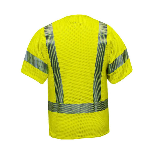 NSA FR Class 3 Hi-Vis Yellow Arc Flash Mesh Made in USA Vest V00HA3V Back