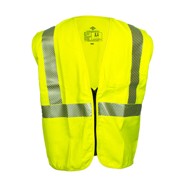NSA FR Class 2 Hi Vis Zipper Front Made in USA Safety Vest V00TV2Z