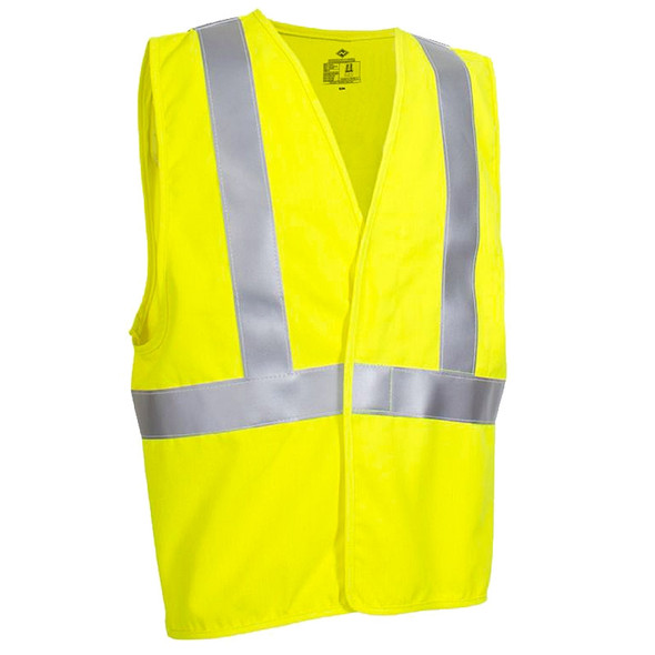 NSA FR Class 2 Hi Vis Made in USA Contractor Safety Vest V20TV2V