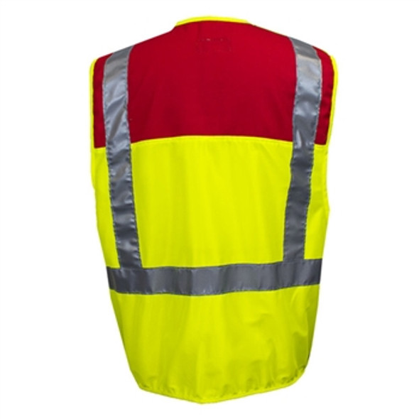 NSA Class 2 Hi Vis Break-Away Made in USA Public Safety Vest VNT9114 Back