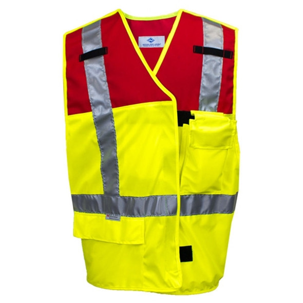 NSA Class 2 Hi Vis Break-Away Made in USA Public Safety Vest VNT9114 Front