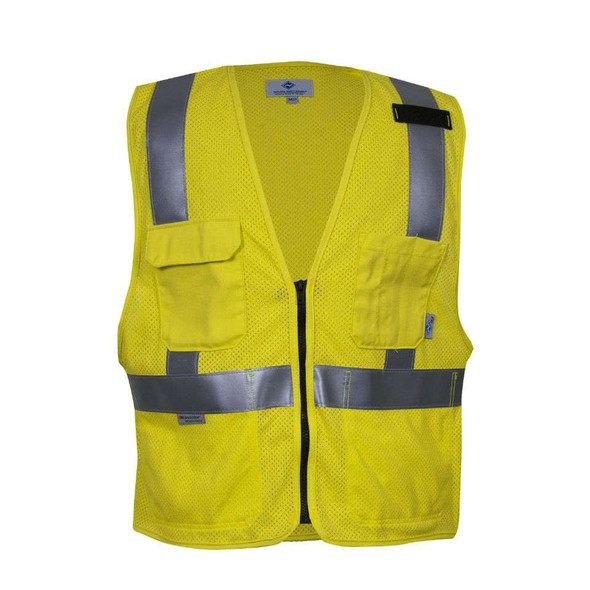 NSA FR Class 2 Hi Vis Made in USA Electricians Mesh Safety Vest VNT99363 Front
