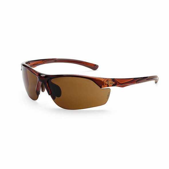 Crossfire AR3 Crystal Brown Half-Frame Super Dark Brown Lens Safety Glasses 161129 - Box of 12