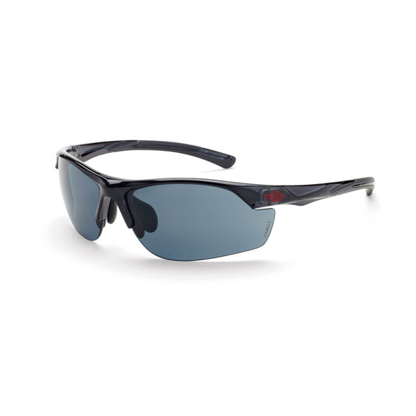 Crossfire AR3 Crystal Black Half-Frame Super Dark Smoke Lens Safety Glasses 16428 - Box of 12