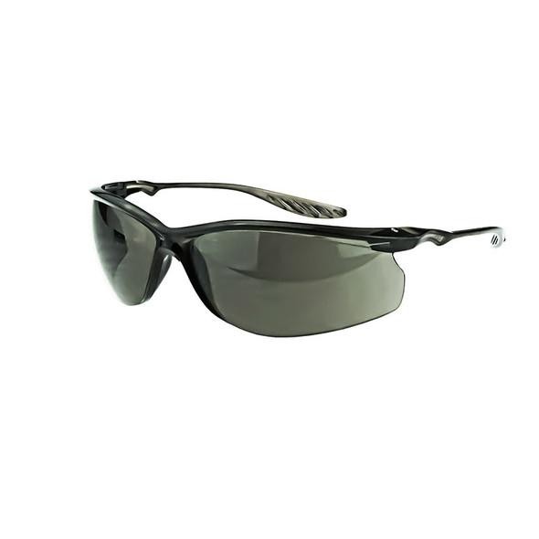 Crossfire 24Seven Crystal Black Half-Frame Smoke Lens Safety Glasses 3741 - Box of 12