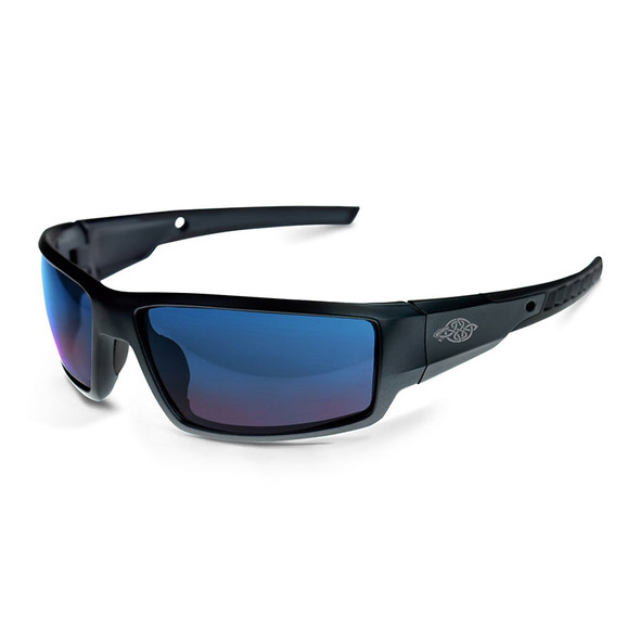 Cumulus Matte Black Frame Blue Mirror Lens Glasses 41626 Box of 12