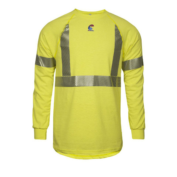 NSA FR Class 2 Hi Vis Moisture Wicking Long Sleeve T-Shirt BSTJTRLSC2