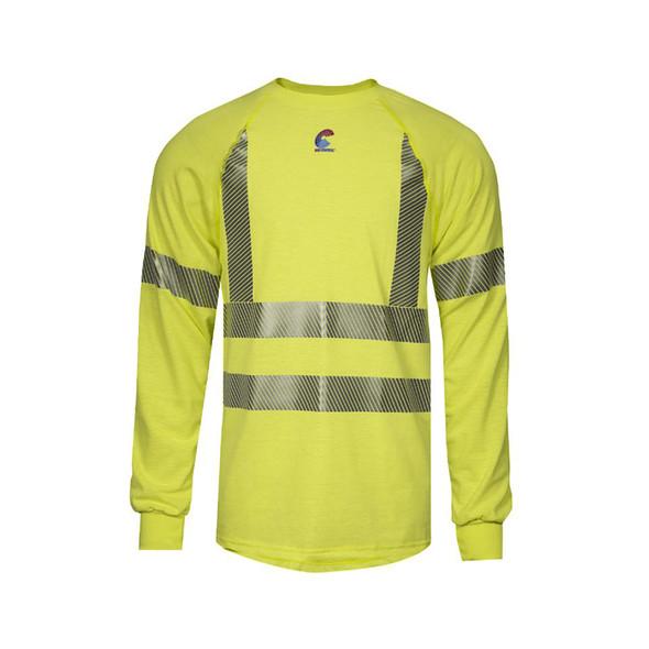 NSA FR Class 3 Hi Vis Moisture Wicking Long Sleeve T-Shirt BSTJTRLSC3