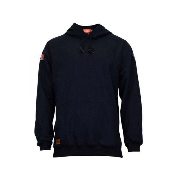TECGEN FR Pullover Navy Made in USA Hoodie SWSI2 Front