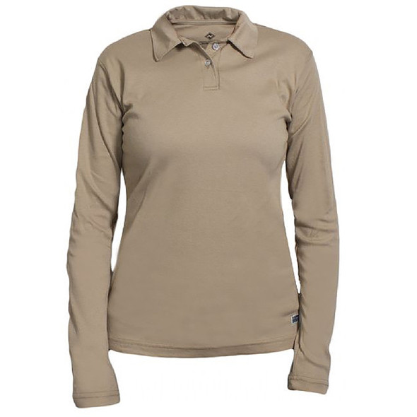 NSA Womens FR NFPA 70E Cotton Long Sleeve Polo C54PAPSLSSCW