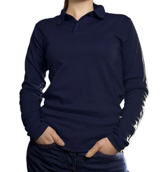 NSA Womens FR NFPA 70E True Comfort Long Sleeve Polo C54VY-PSLSSCW