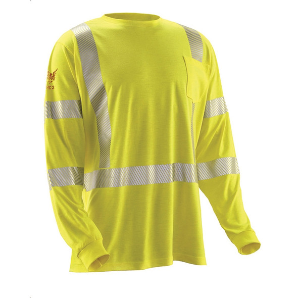 DriFire FR Class 3 Hi Vis Strongknit Made in USA Long Sleeve DF2-AX3-793LSP