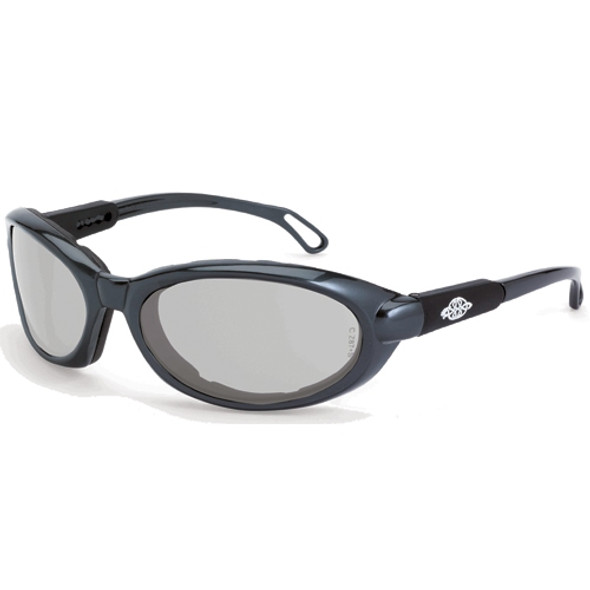 Crossfire MK12 Shiny Pearl Gray Frame Foam Lined IO Anti-Fog Lens Safety Glasses 11615AF - Box of 12