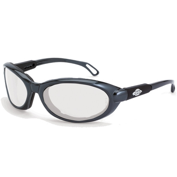 Crossfire MK12 Pearl Gray Frame Foam Lined Anti-Fog Clear Lens Safety Glasses 1164AF - Box of 12