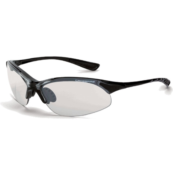 Crossfire XCBR Crystal Black Half-Frame Indoor Outdoor Lens 15415 Safety Glasses - Box of 12