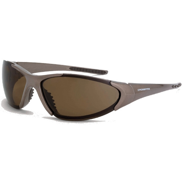 Crossfire Core Mocha Brown Frame Brown Polarized Lens Safety Glasses 181813 - Box of 12