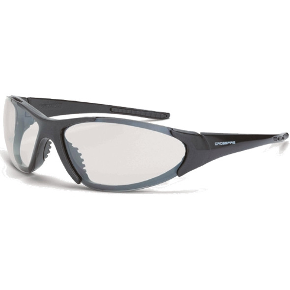 Crossfire Core Shiny Black Frame Indoor Outdoor Safety Glasses 18615 - Box of 12
