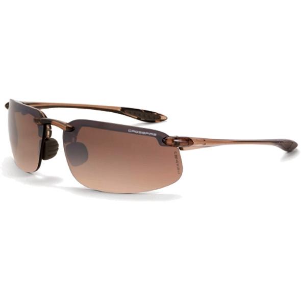 Crossfire ES4 Crystal Brown Half-Frame HD Brown Flash Mirror Lens Safety Glasses 211125 - Box of 12