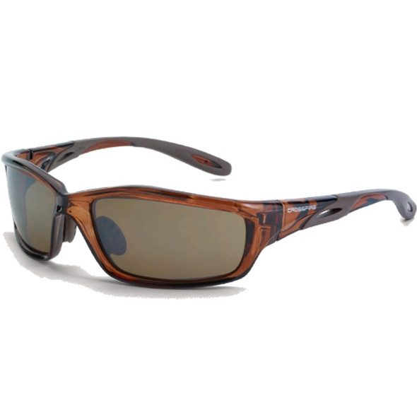 Crossfire Infinity Crystal Brown Frame HD Brown Mirror Lens Safety Glasses 2117 - Box 12