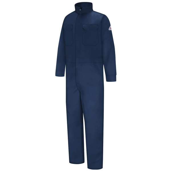 Bulwark FR Excel Coveralls CEB2 Navy Front