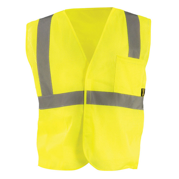 Occunomix Class 2 Hi Vis Mesh Value Economy Safety Vest ECO-IM Yellow Front