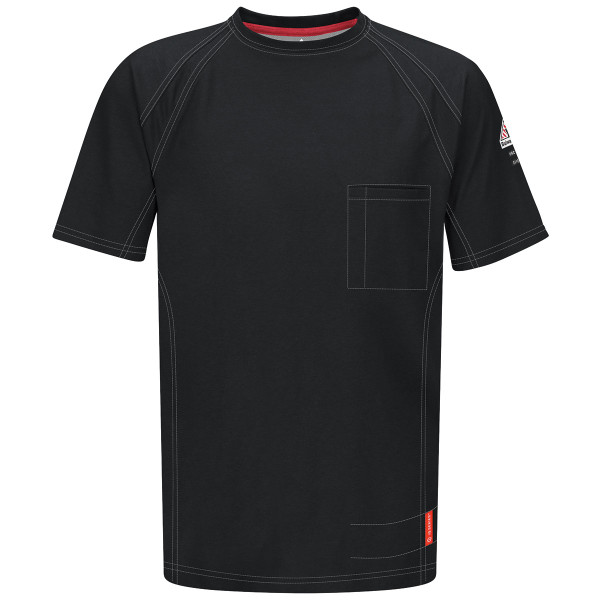 Bulwark FR iQ Series Comfort Knit Short Sleeve T-Shirt QT30 Black Front