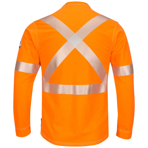 Bulwark FR X-Back iQ Series Comfort Knit Long Sleeve T-Shirt QT34 Back
