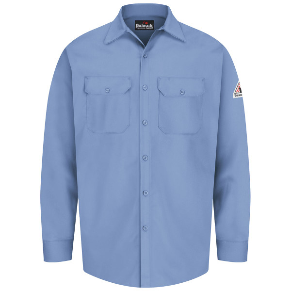 Bulwark FR 7 oz. Excel Dress Shirt SEW2 Light Blue Front