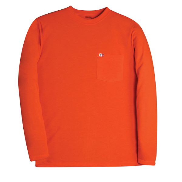 Big Bill FR Long Sleeve T-Shirt 8 oz. Knit DW5PD8 Orange
